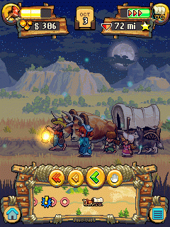 Скриншот java игры Oregon Trail 2 Gold rush. Игровой процесс.
