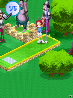 Download free mobile game: Mini Golf 99 Challenge 2010 - download free games for mobile phone.