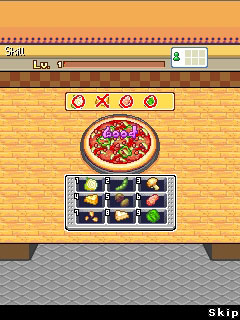 Mobil-Spiel Pizza Manager - Screenshots. Spielszene Pizza Manager.
