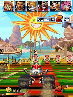 Sonic and Sega All Stars Racing手机游戏- 截图。Sonic and Sega All Stars Racing游戏。