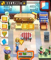 Mobil-Spiel Pizza Shop Manie - Screenshots. Spielszene Pizza Shop Mania.