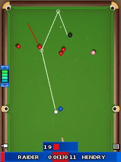 Скриншот java игры Ronnie O'Sullivans: World Snooker 2010. Игровой процесс.