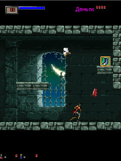 Скриншот java игры Castlevania Symphony of the Night. Игровой процесс.