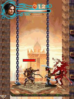 Скриншот java игры Prince of Persia: The Forgotten Sands. Игровой процесс.