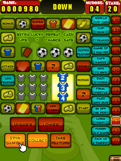 Скриншот java игры Slot Machine World Cup Edition. Игровой процесс.