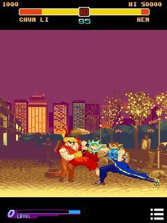 Скріншот java гри Street Fighter: Alpha Warriors' Dreams. Ігровий процес.