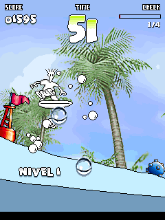 Jeu mobile Fido Dido: le Surfing - captures d'écran. Gameplay Fido Dido Surfing.