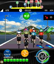 Mobile game Le Tour de France 2010 - screenshots. Gameplay Le Tour de France 2010.