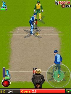 Mobil-Spiel Cricket T20 Weltmeisterschaft - Screenshots. Spielszene Cricket T20 World Championship.
