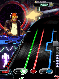 Скриншот java игры DJ Hero Mobile. Игровой процесс.