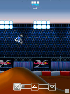 Red Bull Motocross 3D/2D手机游戏- 截图。Red Bull Motocross 3D/2D游戏。