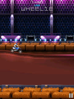 Скриншот java игры Red Bull Motocross 3D/2D. Игровой процесс.