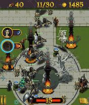 Скриншот java игры The Lord of The Rings: Middle-Earth Defense. Игровой процесс.