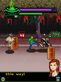 Jeu mobile Ben 10: la Vengeance de Vilgax - captures d'écran. Gameplay Ben 10: Vengeance of the Vilgax.