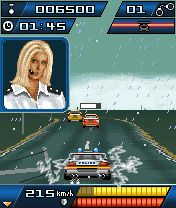 Download free mobile game: Autobahn Racer Police Madness - download free games for mobile phone.