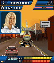 Download free game for mobile phone: Autobahn Racer Police Madness - download mobile games for free.