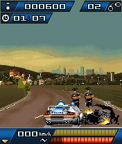 Mobile game Autobahn Racer Police Madness - screenshots. Gameplay Autobahn Racer Police Madness.