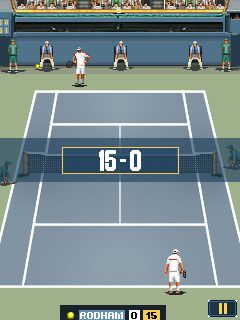 Скриншот java игры Ultimate Tennis Hard Court 2010. Игровой процесс.