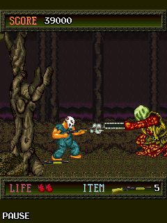 Скриншот java игры SplatterHouse. Игровой процесс.