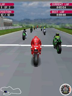Download free mobile game: Moto GP 07 3D - download free games for mobile phone.