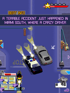 Mobil-Spiel Gangstar 3: Miami Rechtfertigung - Screenshots. Spielszene Gangstar 3: Miami Vindication.