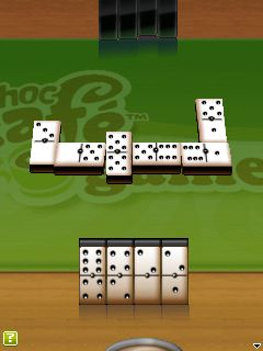 Скриншот java игры DChoc Cafe: Dominoes. Игровой процесс.