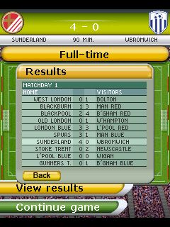 Mobile game Play Football Manager 2011 - screenshots. Gameplay Play Football Manager 2011.