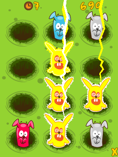 Mobile game Bunny buster - screenshots. Gameplay Bunny buster.