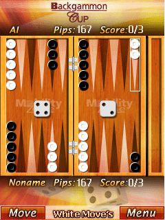 Скриншот java игры Backgammon Cup. Игровой процесс.