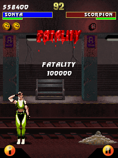Mobile game Ultimate Mortal Kombat 3 - screenshots. Gameplay Ultimate Mortal Kombat 3.