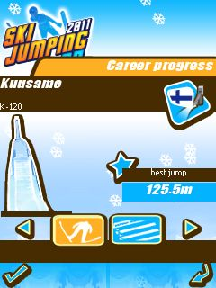 Download free mobile game: Ski Jumping 2011 3D - download free games for mobile phone.