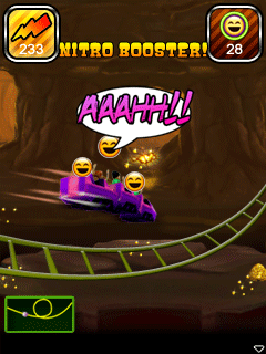 Download free mobile game: Rollercoaster Rush Underground 3D - download free games for mobile phone.
