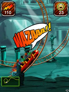 Mobile game Rollercoaster Rush Underground 3D - screenshots. Gameplay Rollercoaster Rush Underground 3D.