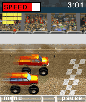 Jeu mobile Les Courses des Bigfoots - captures d'écran. Gameplay Bigfoot Racing.