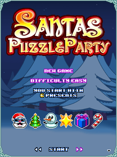 Download free mobile game: Santas Puzzle Party - download free games for mobile phone.