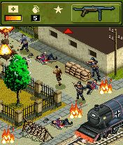 Jeu mobile Le Héro de la Guerre de 1944  - captures d'écran. Gameplay War hero 1944.