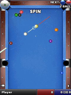 Скриншот java игры World pool masters. Игровой процесс.