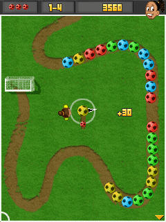 Download free game for mobile phone: Ronaldinho Puzzle Kicks - download mobile games for free.