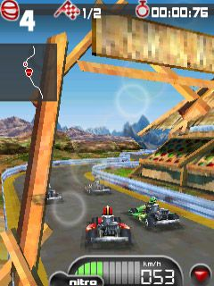 Download free game for mobile phone: Kartmania 3D Bluetooth - download mobile games for free.