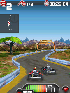 Mobile game Kartmania 3D Bluetooth - screenshots. Gameplay Kartmania 3D Bluetooth.