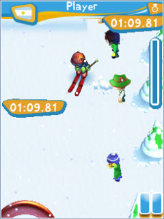 Скриншот java игры Ultimate Ski Racing. Игровой процесс.
