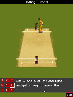 Mobil-Spiel ICC Cricket Weltmeisterschaft 2011 - Screenshots. Spielszene ICC Cricket World Cup 2011.