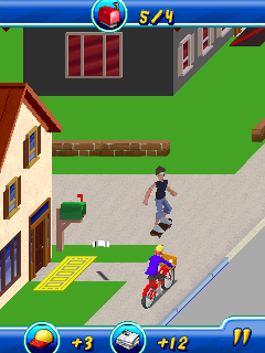 Download free mobile game: Paperboy Special Delivery - download free games for mobile phone.