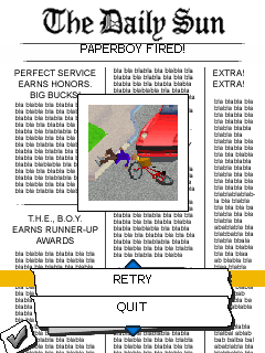 Mobile game Paperboy Special Delivery - screenshots. Gameplay Paperboy Special Delivery.