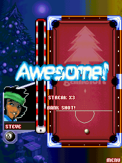 Mobile game Christmas midnight pool - screenshots. Gameplay Christmas midnight pool.