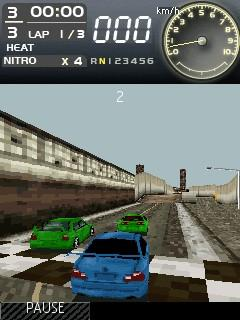 Скриншот java игры Need For Speed Most Wanted. Игровой процесс.