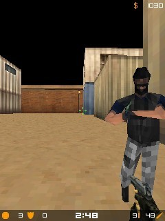 Скріншот java гри Micro Counter Strike 1.4. Ігровий процес.