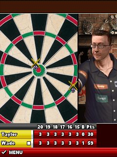 Скриншот java игры PDC World Darts Championship 2011. Игровой процесс.