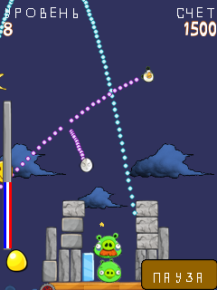 Mobile game Angry Birds - screenshots. Gameplay Angry Birds.