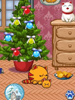 Mobile game MewSim New Year 1.0.3 (240x320 - screenshots. Gameplay MewSim New Year 1.0.3 (240x320.